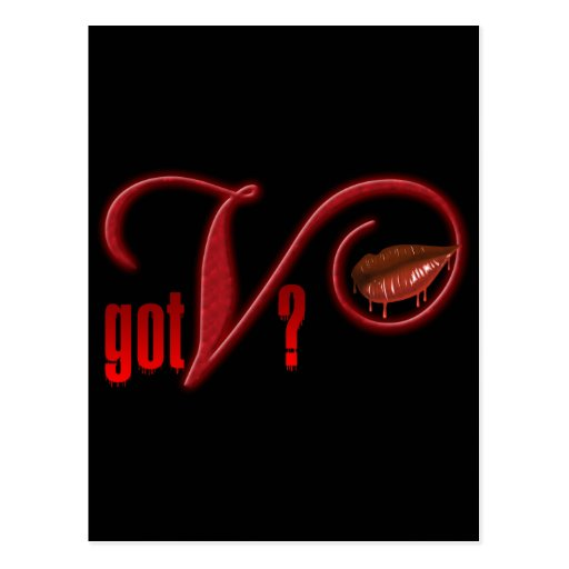Got V - Vampire Blood Postcard