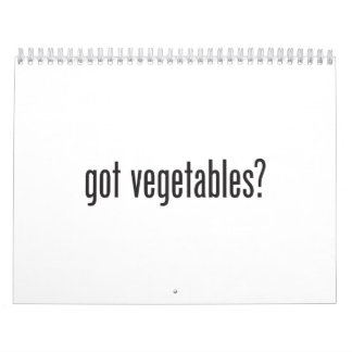 got vegetables calendar