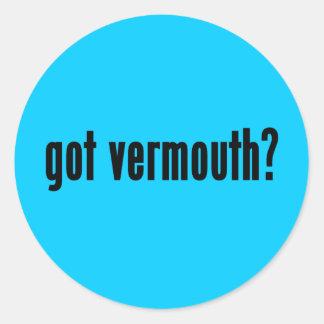 got vermouth? classic round sticker