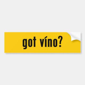 got vino? bumper stickers