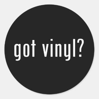 got vinyl? classic round sticker