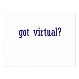 got virtual? postcard