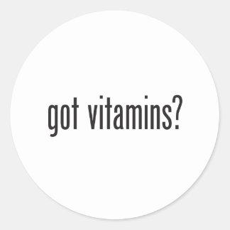 got vitamins classic round sticker