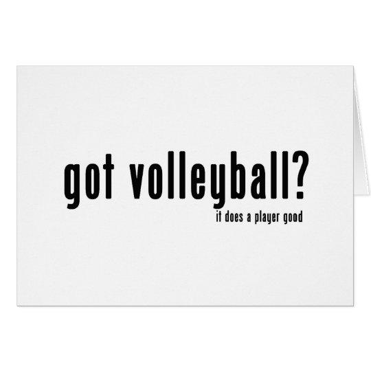 Got Volleyball? Card