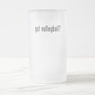 got volleyball? frosted glass beer mug