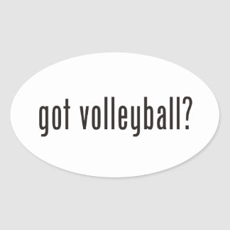 got volleyball? oval sticker
