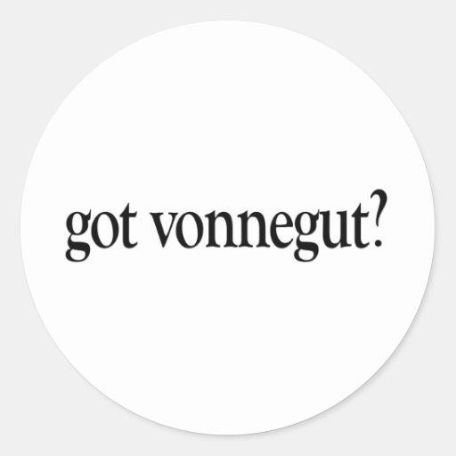 Got Vonnegut Classic Round Sticker