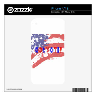 Got Vote iPhone 4S Skins