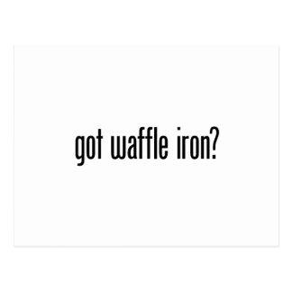 got waffle iron postcard
