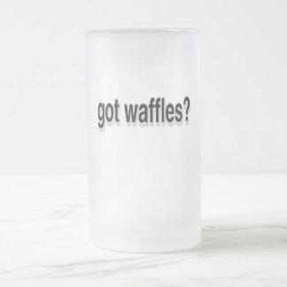 Got Waffles 16 Oz Frosted Glass Beer Mug