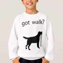 Got walk? Big dog with leash, very cute! Sweatshirt