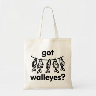 got walleye fish tote bags