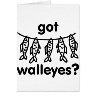 got walleye fish greeting cards