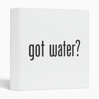 got water 3 ring binder
