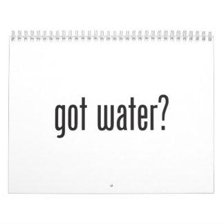 got water calendar