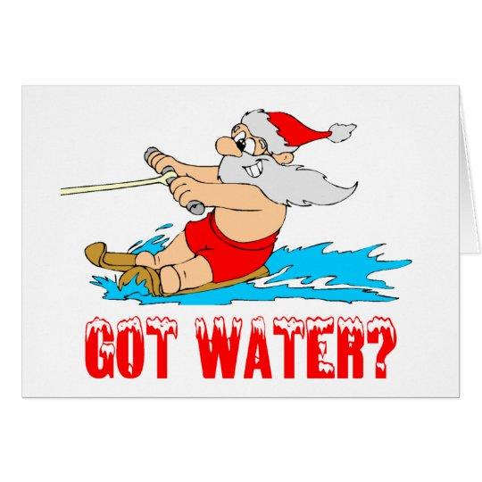 Got Water? (Skiing Santa) Card
