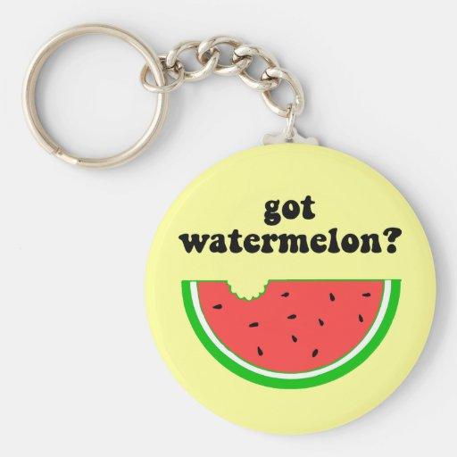 Got watermelon? basic round button keychain