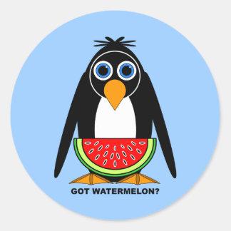 got watermelon classic round sticker