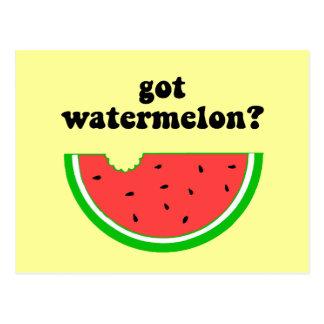 Got watermelon? postcard