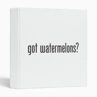 got watermelons binders