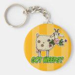 got weeds goat basic round button keychain