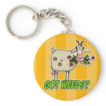 got weeds goat keychain