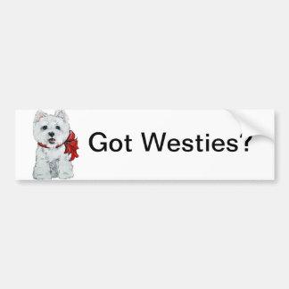 Got Westies? Bumper Sticker