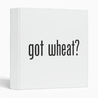 got wheat 3 ring binders