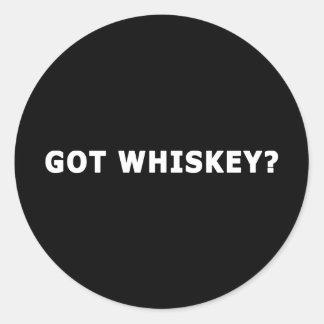 Got Whiskey Classic Round Sticker