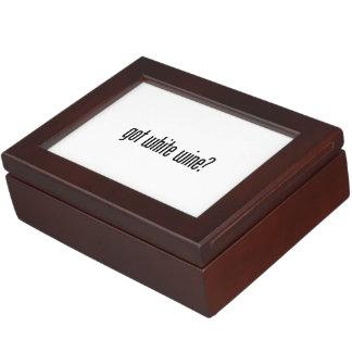 got white wine keepsake box