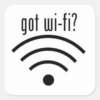 got wi-fi? square sticker
