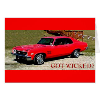 GOT WICKED GREETING CARD