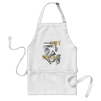 Got Wind Funny Wind Instrument players gifts Adult Apron