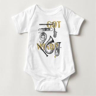 Got Wind Funny Wind Instrument players gifts Baby Bodysuit