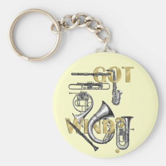 Got Wind Funny Wind Instrument players gifts Basic Round Button Keychain