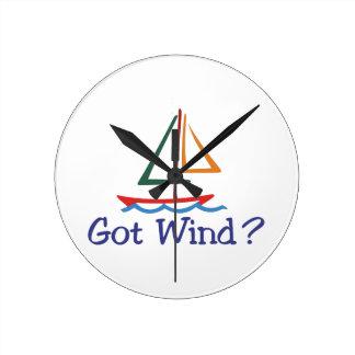 Got Wind? Round Wallclocks