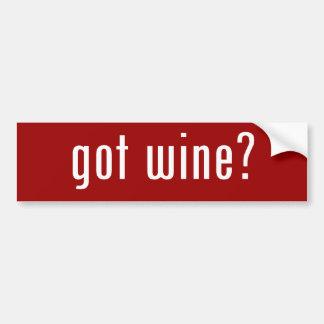 got wine? bumper sticker