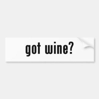 got wine? bumper stickers