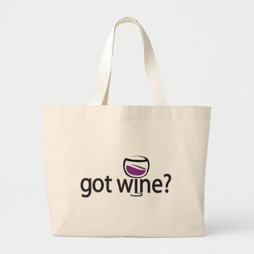 got wine? canvas bags