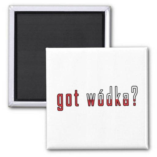 got wodka? Flag 2 Inch Square Magnet