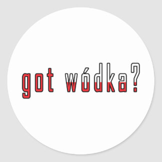 got wodka? Flag Classic Round Sticker