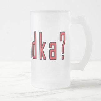 got wodka? 16 oz frosted glass beer mug