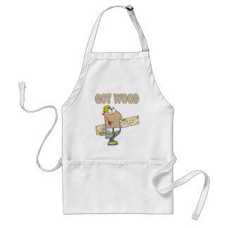 got wood carpenter humor funny design adult apron