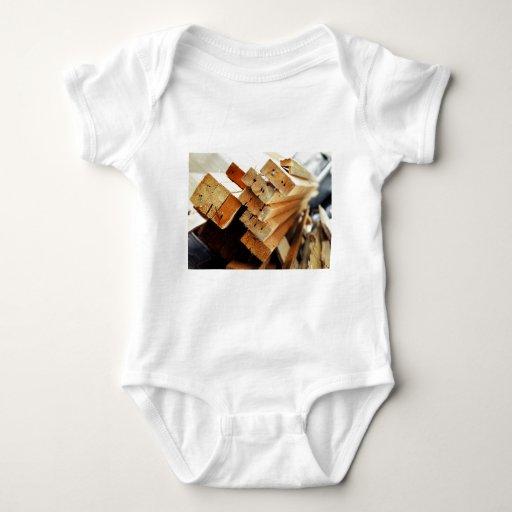 Got Wood? Pile of 2x4s Carpentry Design Baby Bodysuit