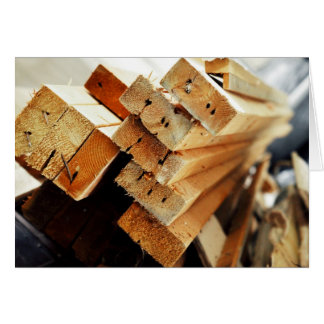 Got Wood? Pile of 2x4s Carpentry Design Greeting Card