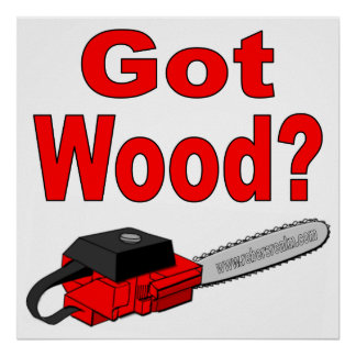 got wood red chainsaw posters