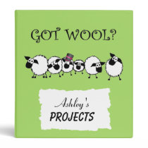 GOT WOOL? Personalized Project Binder