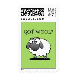 GOT WOOL? Postage Stamp