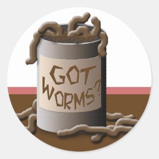 Got Worms? Classic Round Sticker
