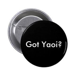 Got Yaoi? button, round black Pinback Button